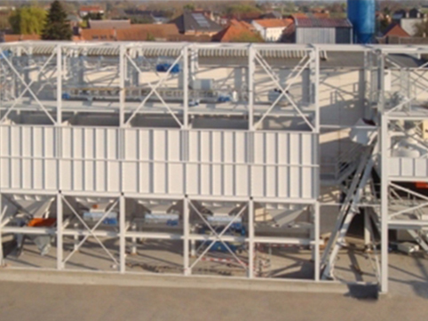 Horizontale menginstallaties voor betonmortel